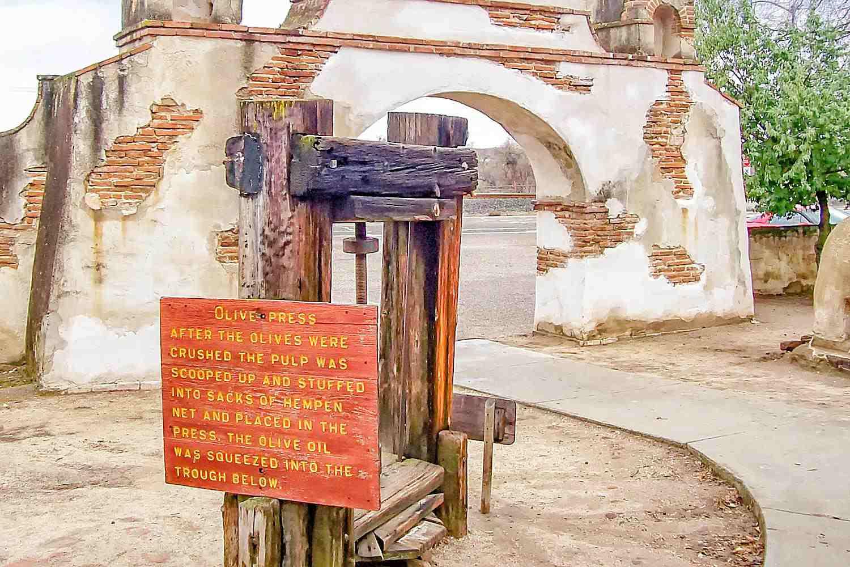 Olive Press at Mission San Miguel