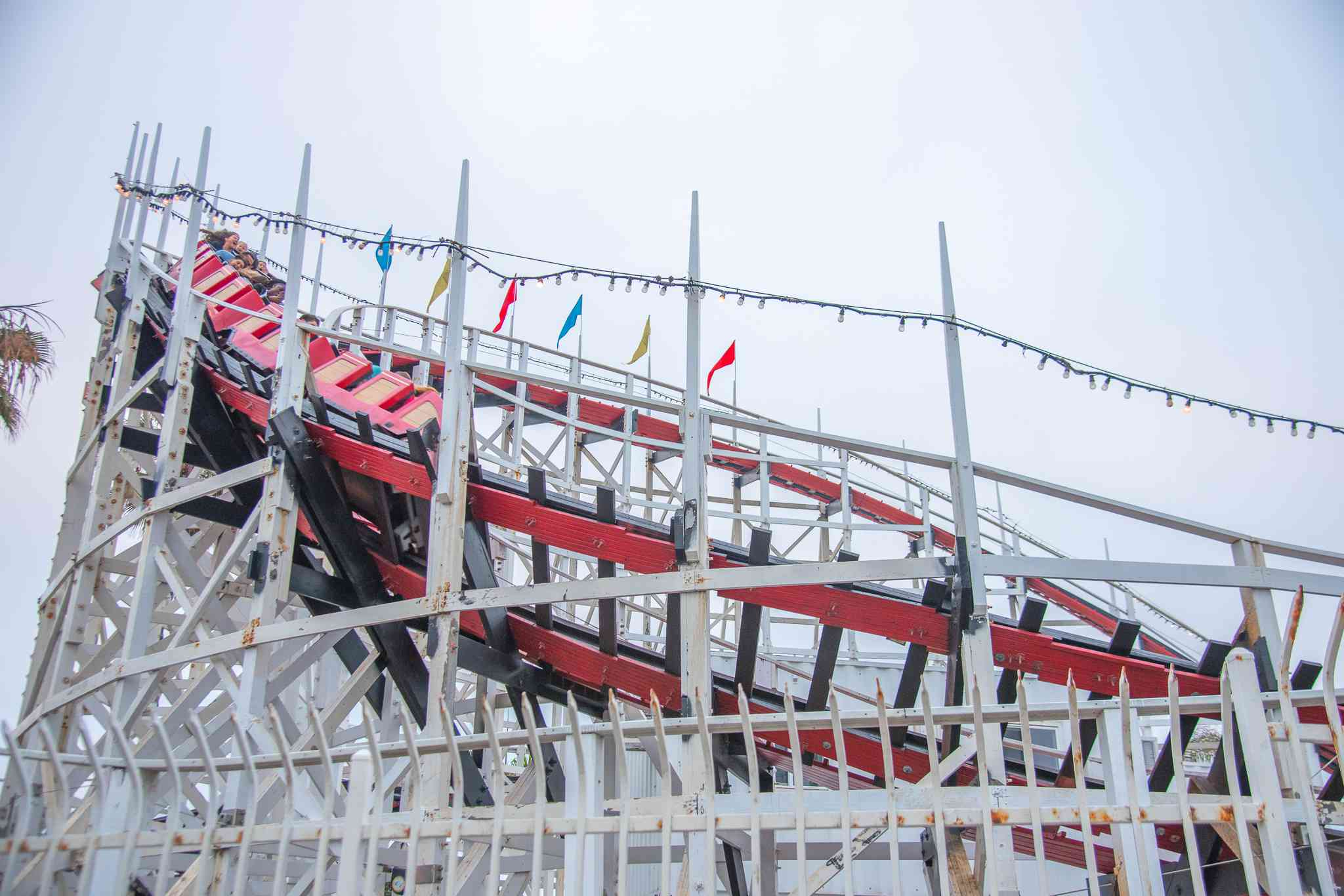 Roller Coaster at Belmont Park in San Diego, CA