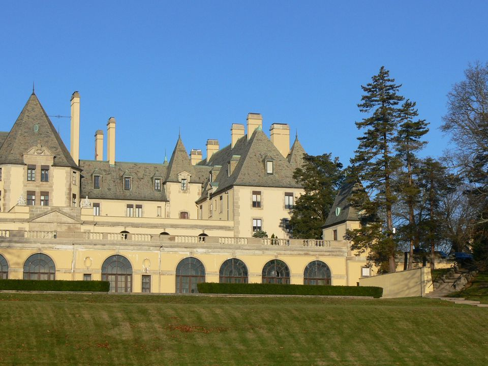 Exterior of Oheka Castle on Long Island, New York