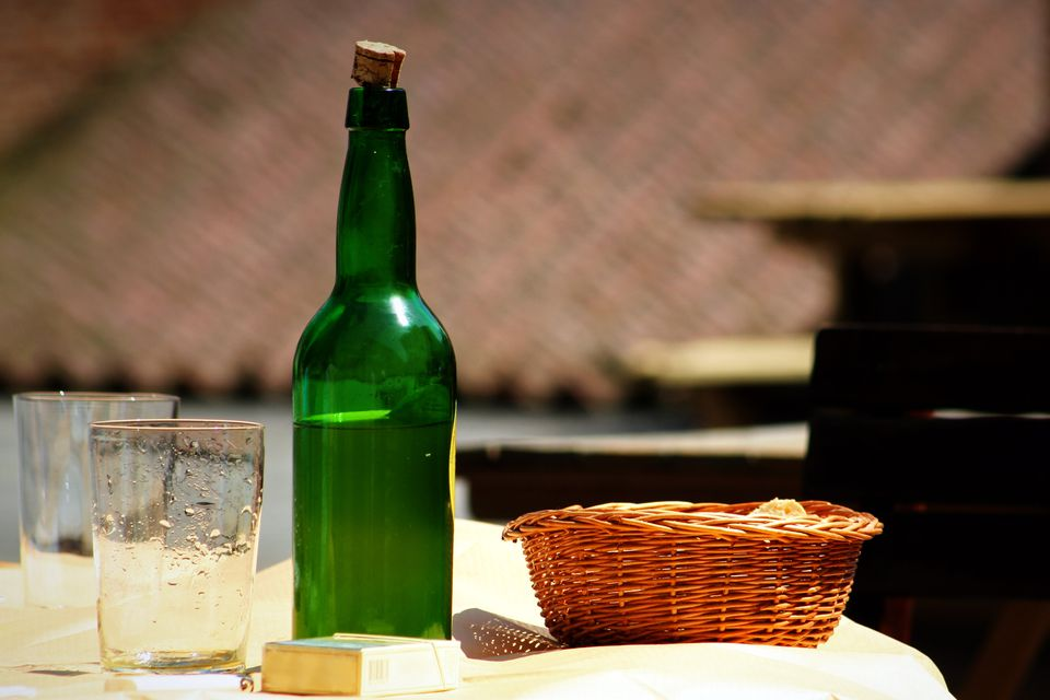 Bottle of sidra in Spain