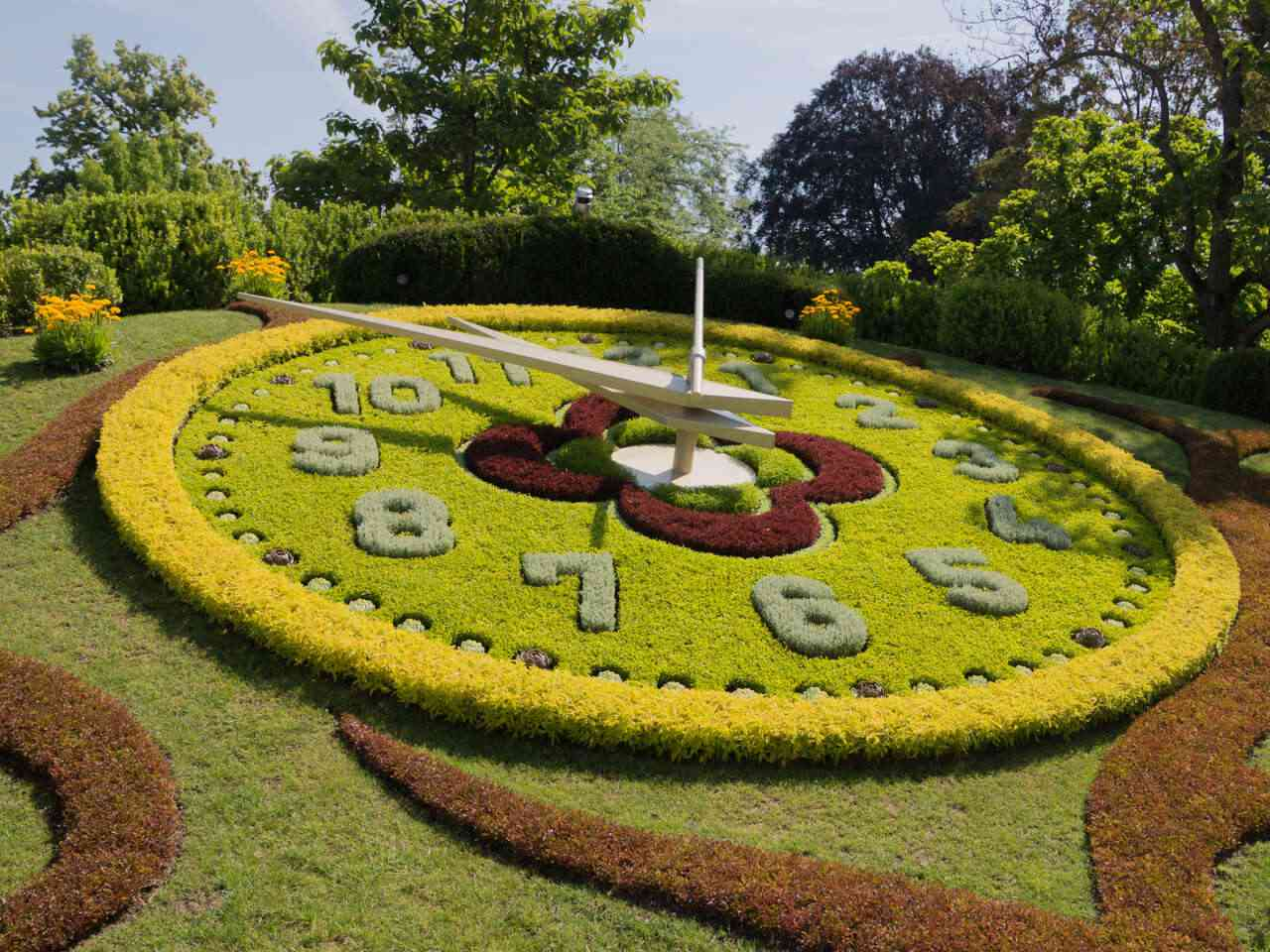 The Flower Clock at the Jardin Anglais, Geneva