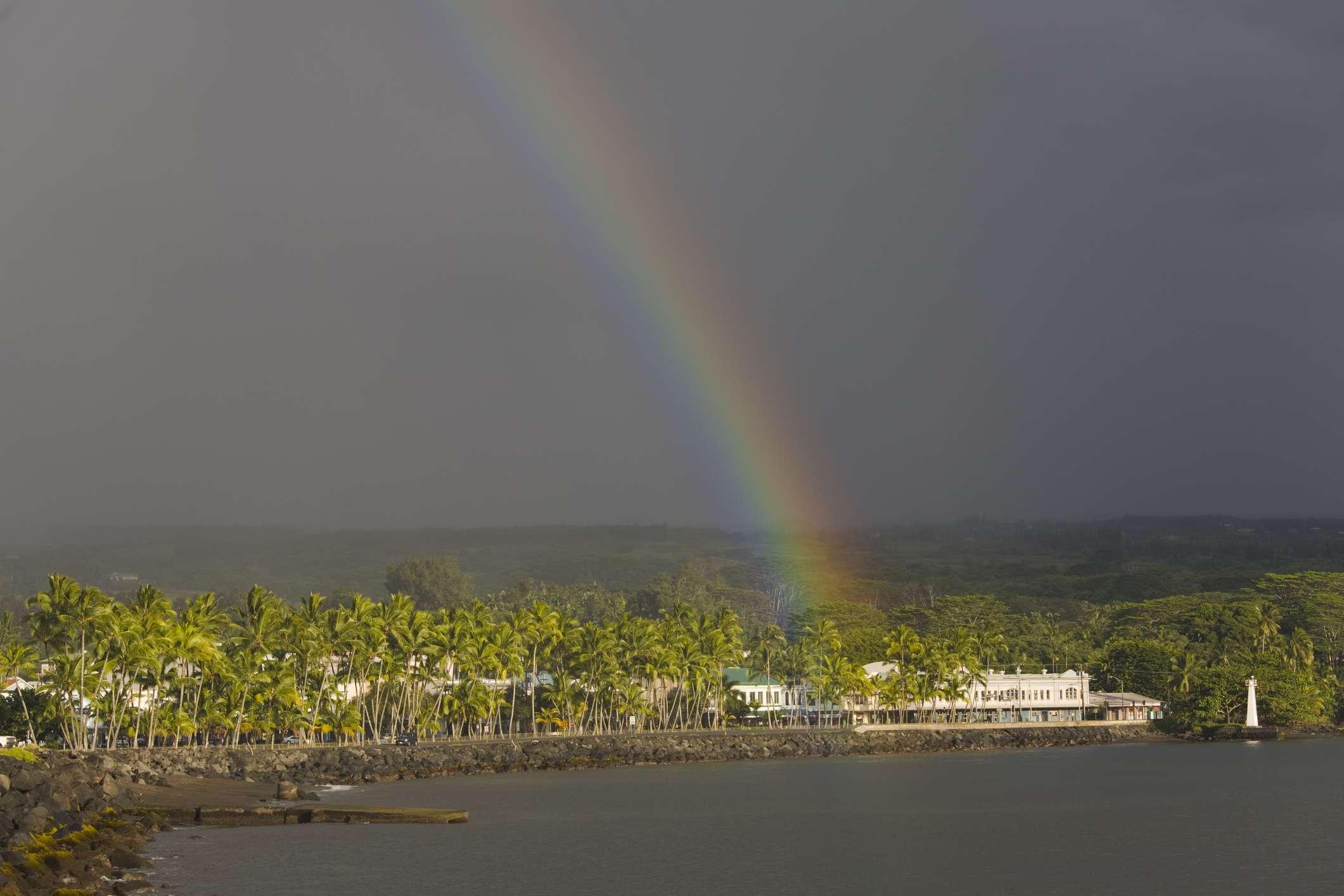 Rainbow over Hilo, Hawai`i