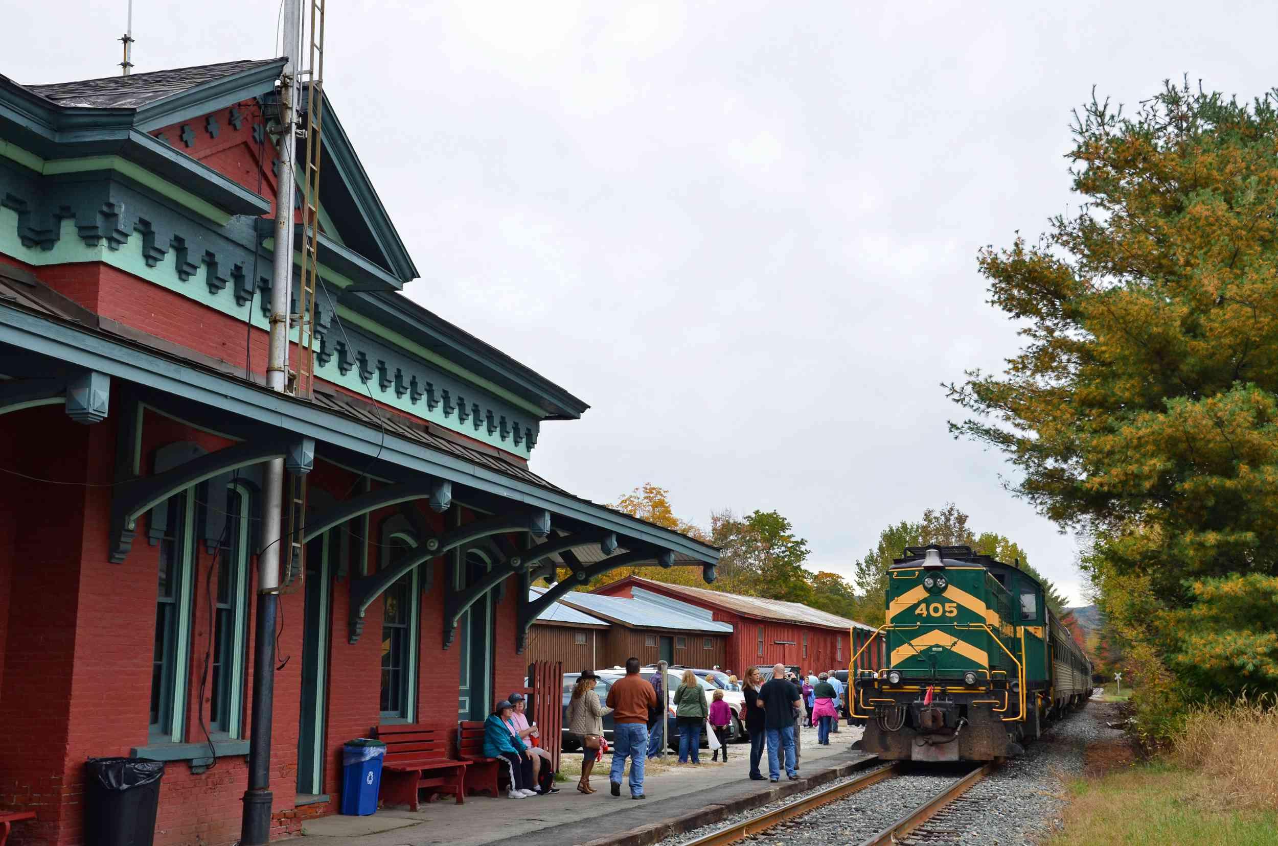 Green Mountain Railroad Fall Foliage Train Rides in Vermont