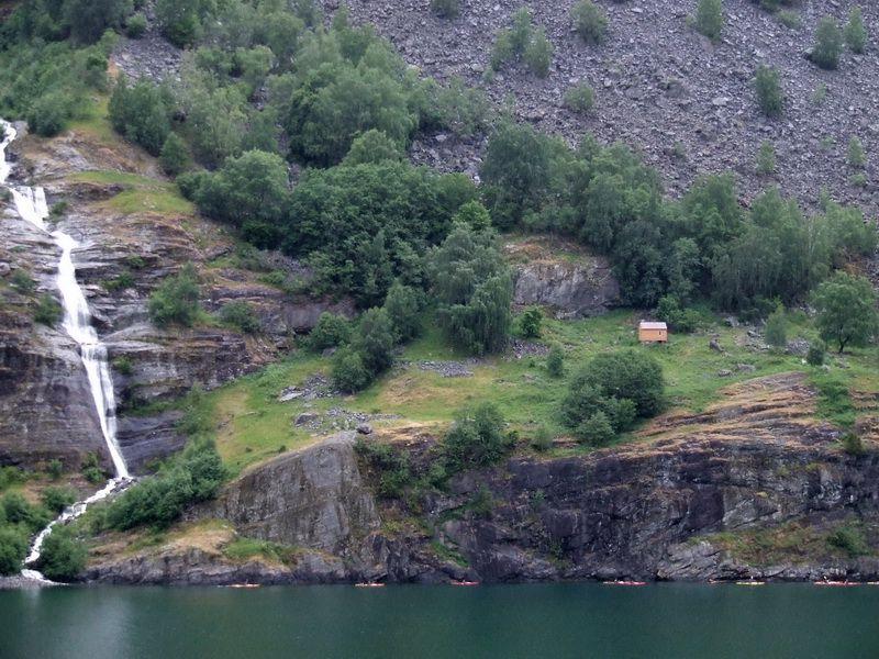 Aurlandsfjord Waterfall near Flam, Norway (c) Linda Garrison