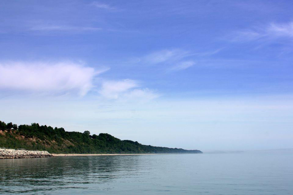 Orilla del lago Michigan