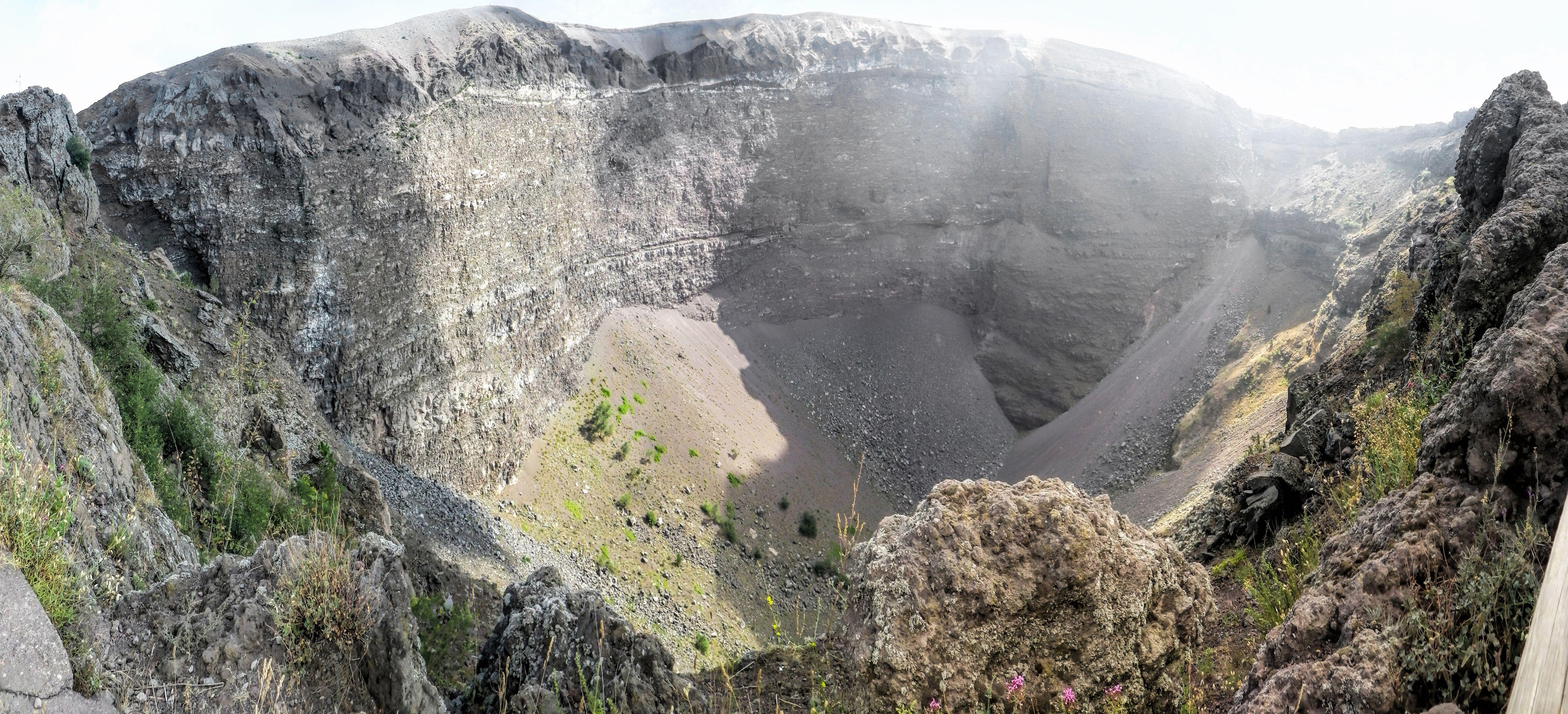 peak of Vesuvius volcano