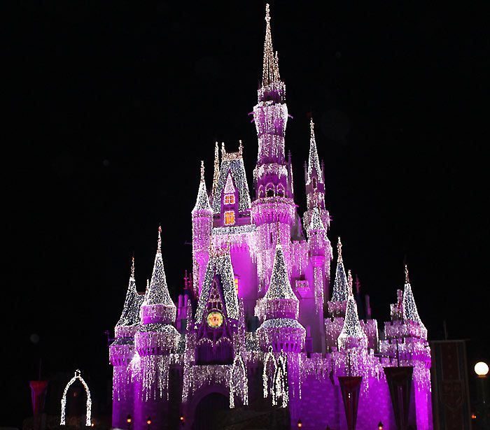 Cinderella Castle at Christmas