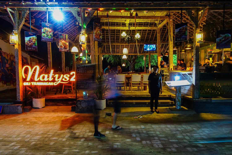 Naty's bar in Gili Trawangan, Indonesia