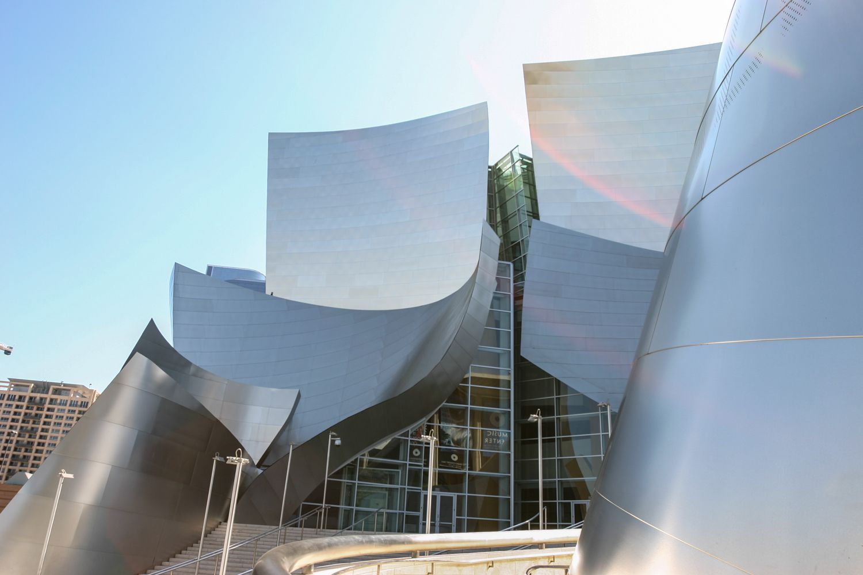 The entrance to Walt Disney Concert Hall