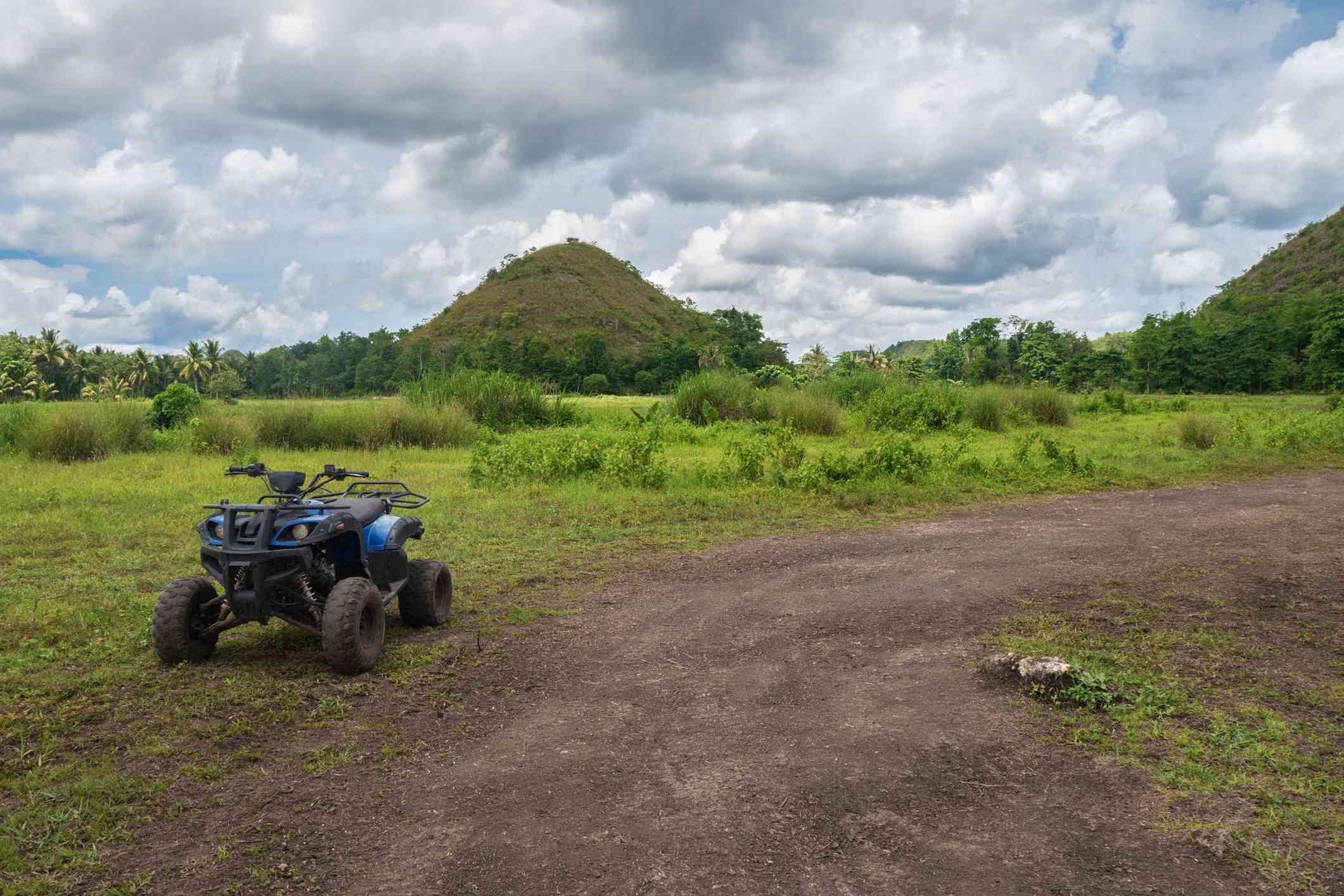 ATV near Chocolate Hills, Bohol, Philippines