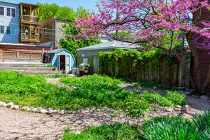 Neighborhood community garden in Logan Square, Chicago