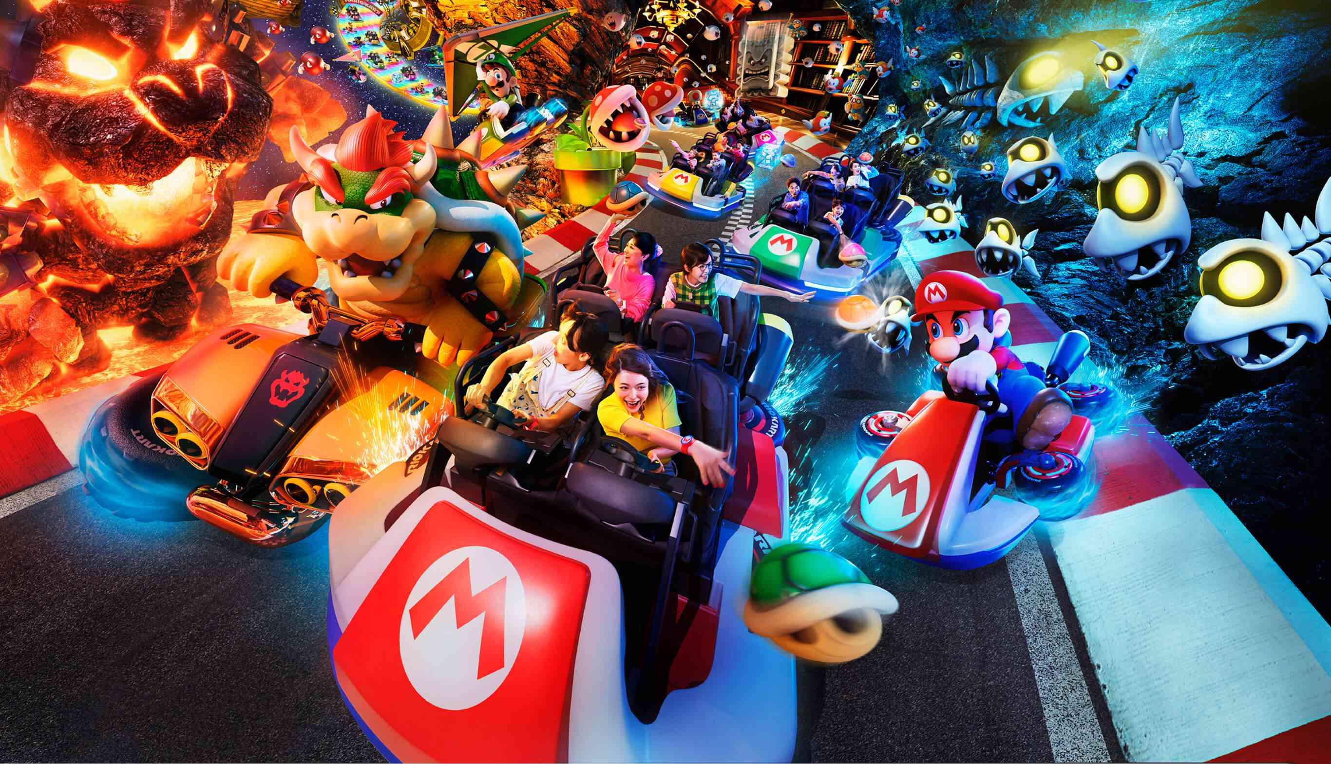 Mario Kart ride at Universal Studios