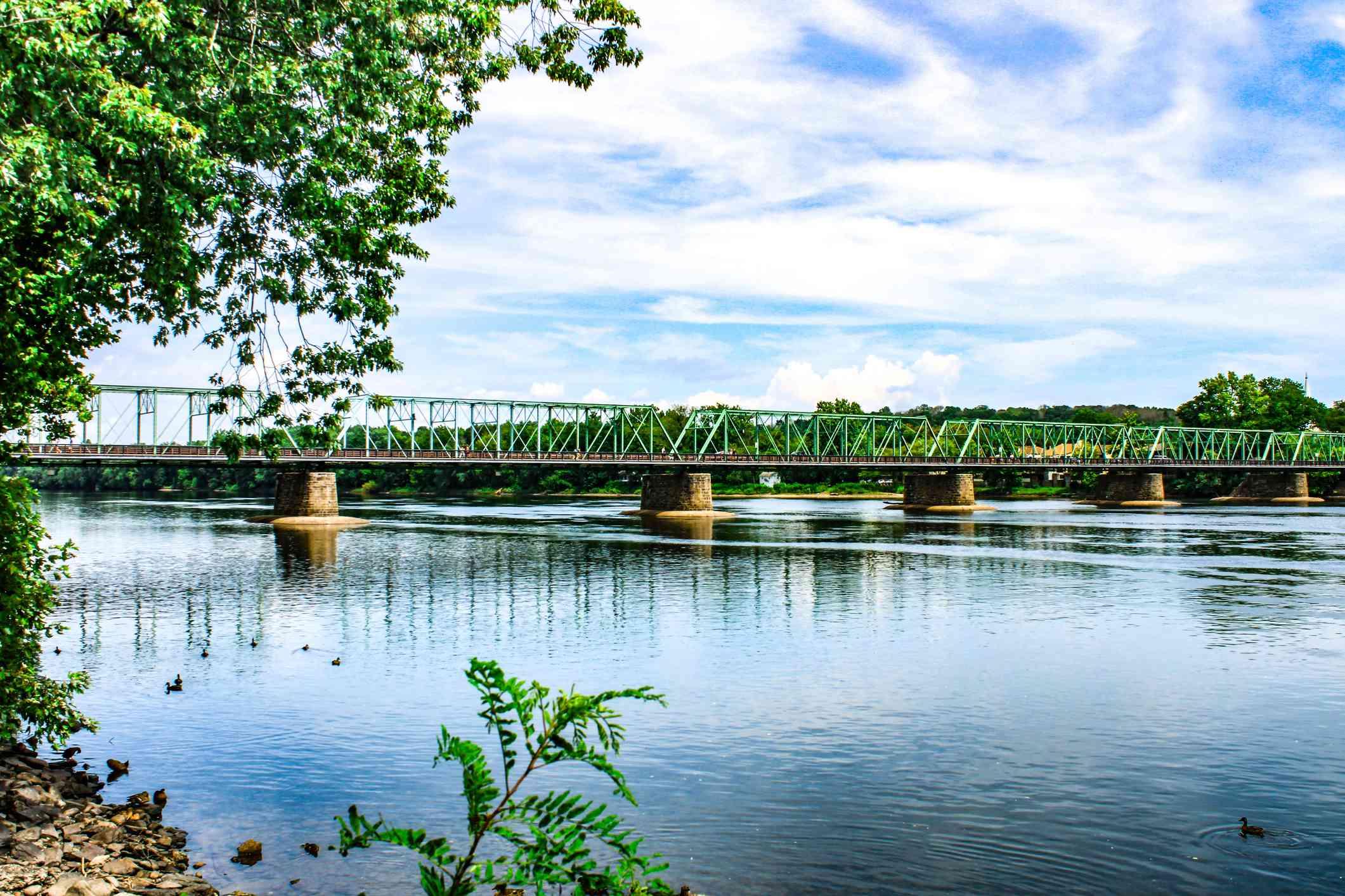 New Hope PA to Lambertville NJ Bridge over Delaware River