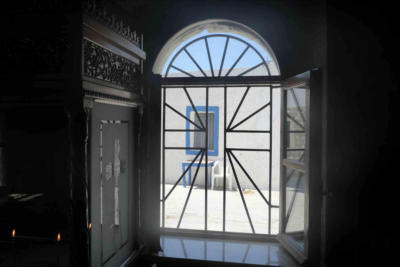 Window in the Theotokou Koimiseos Church on Kos