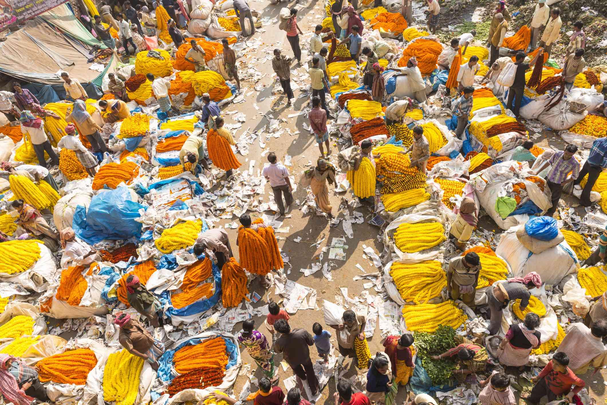 Kolkata flower market.