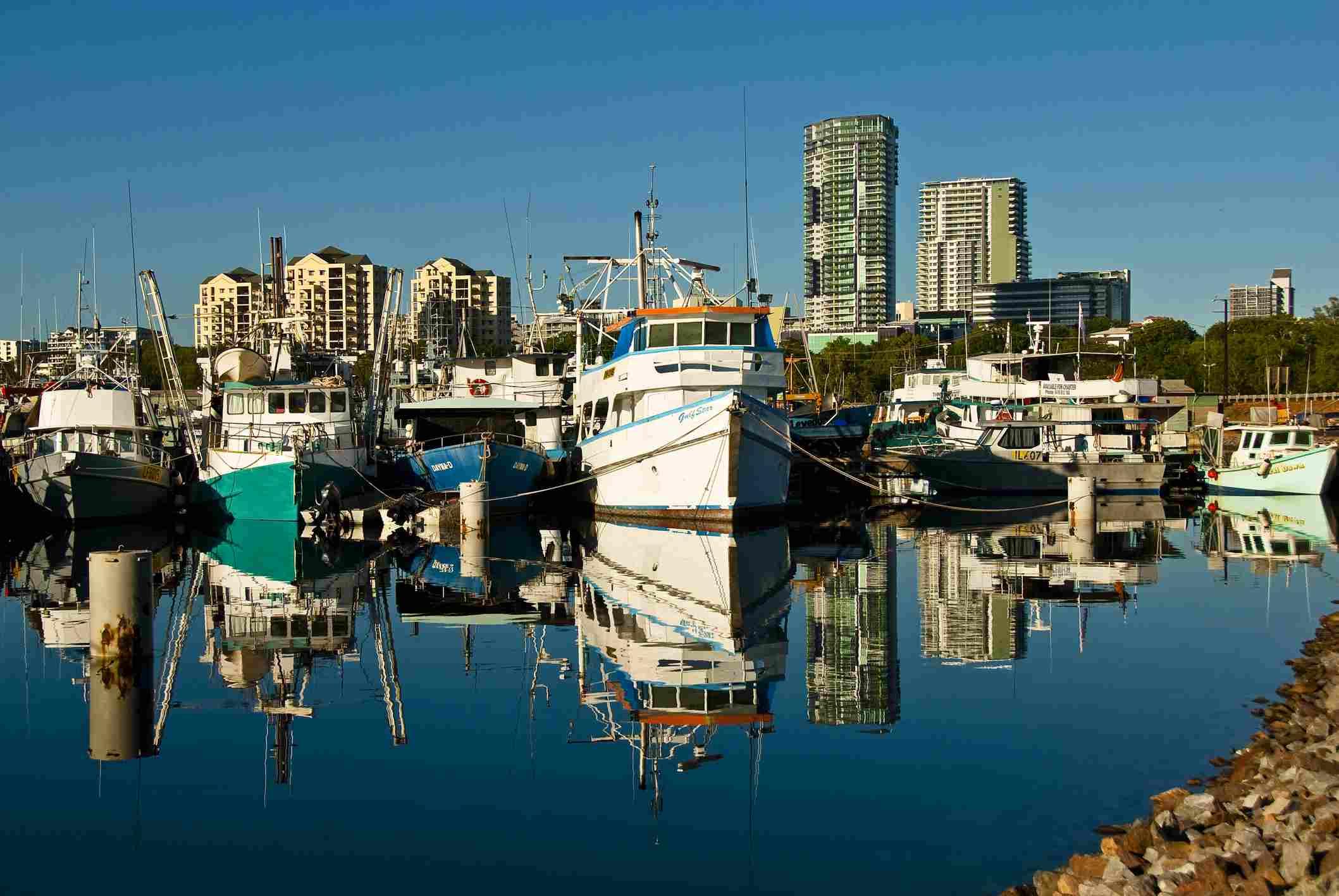 Early morning at Bay Marina