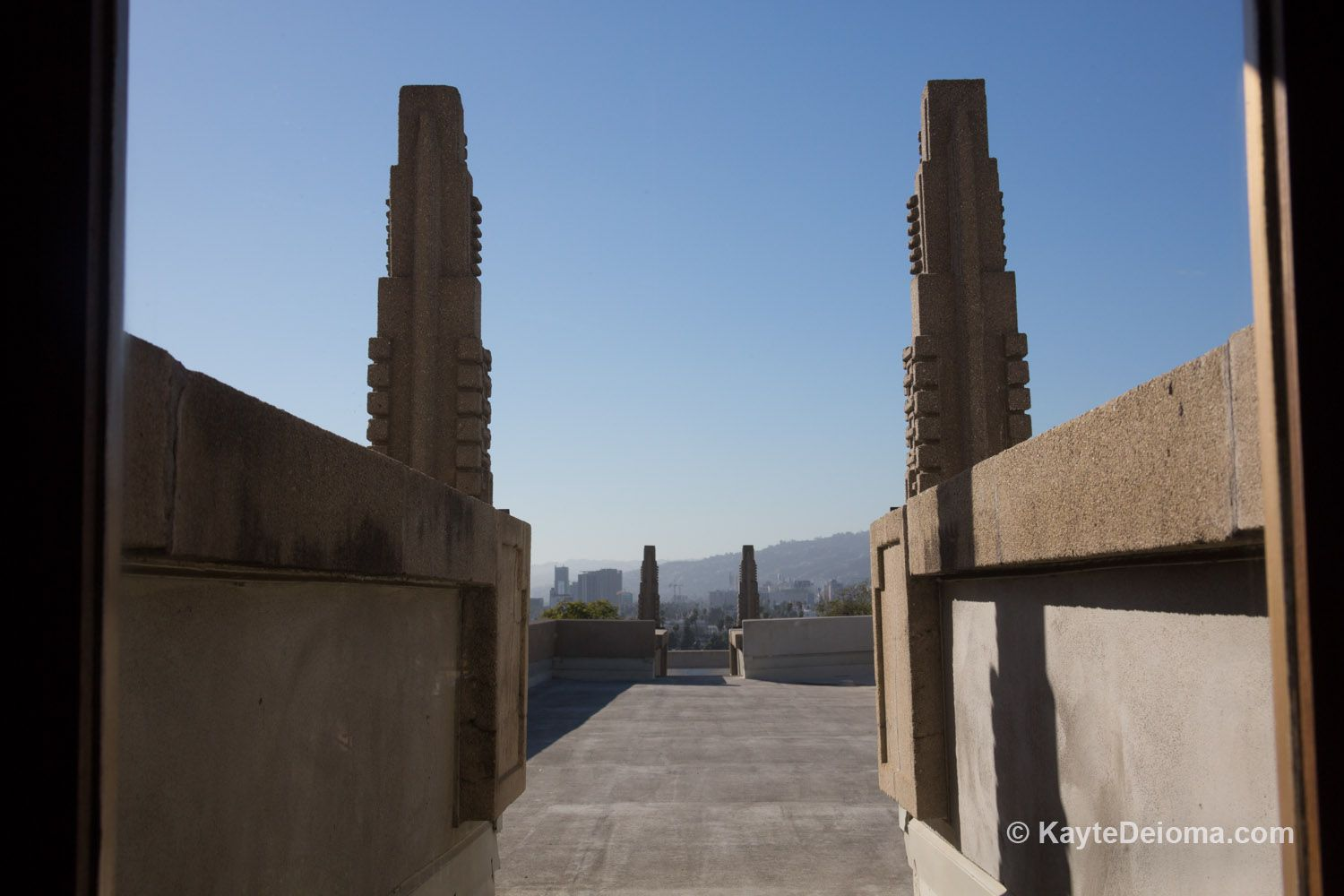 The Roof Terrace at the Hollyhock House