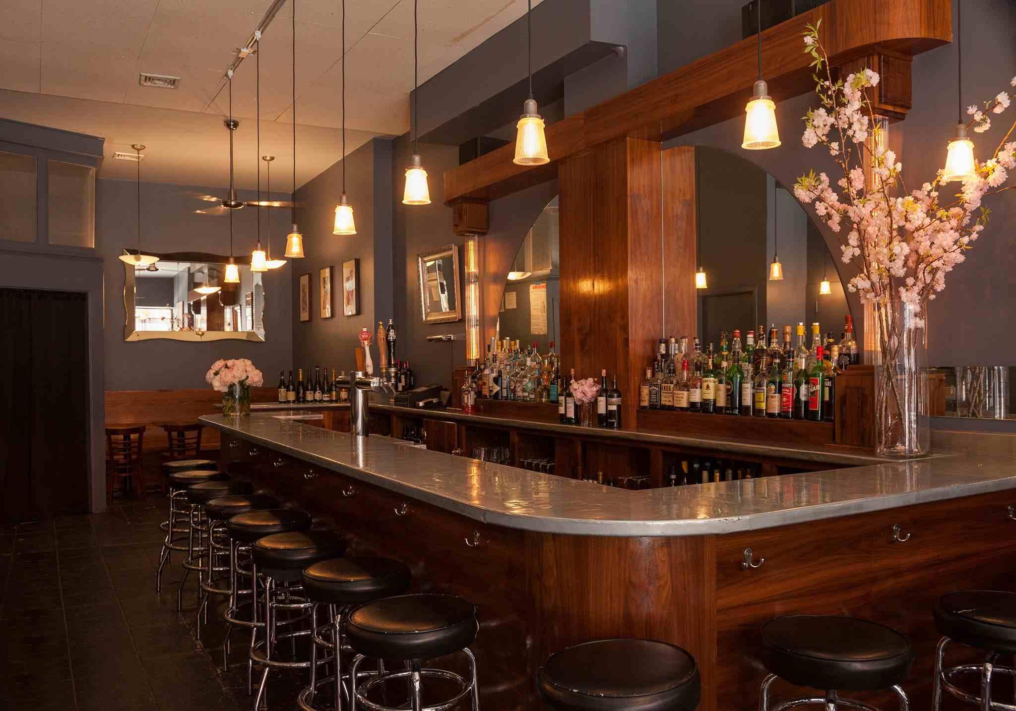 interior of Olympia Wine Bar