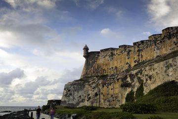 Old walls of El Morro in Old San Juan, Puerto Rico