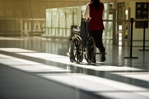 Wheelchair assistance at an airport