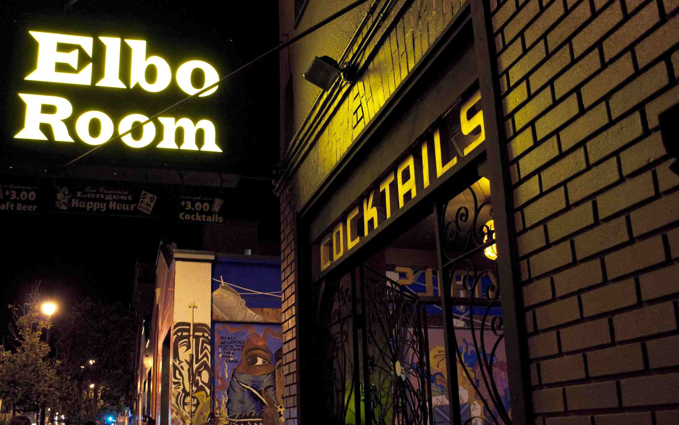 Elbo Room nightclub on Valencia Street in the Mission District