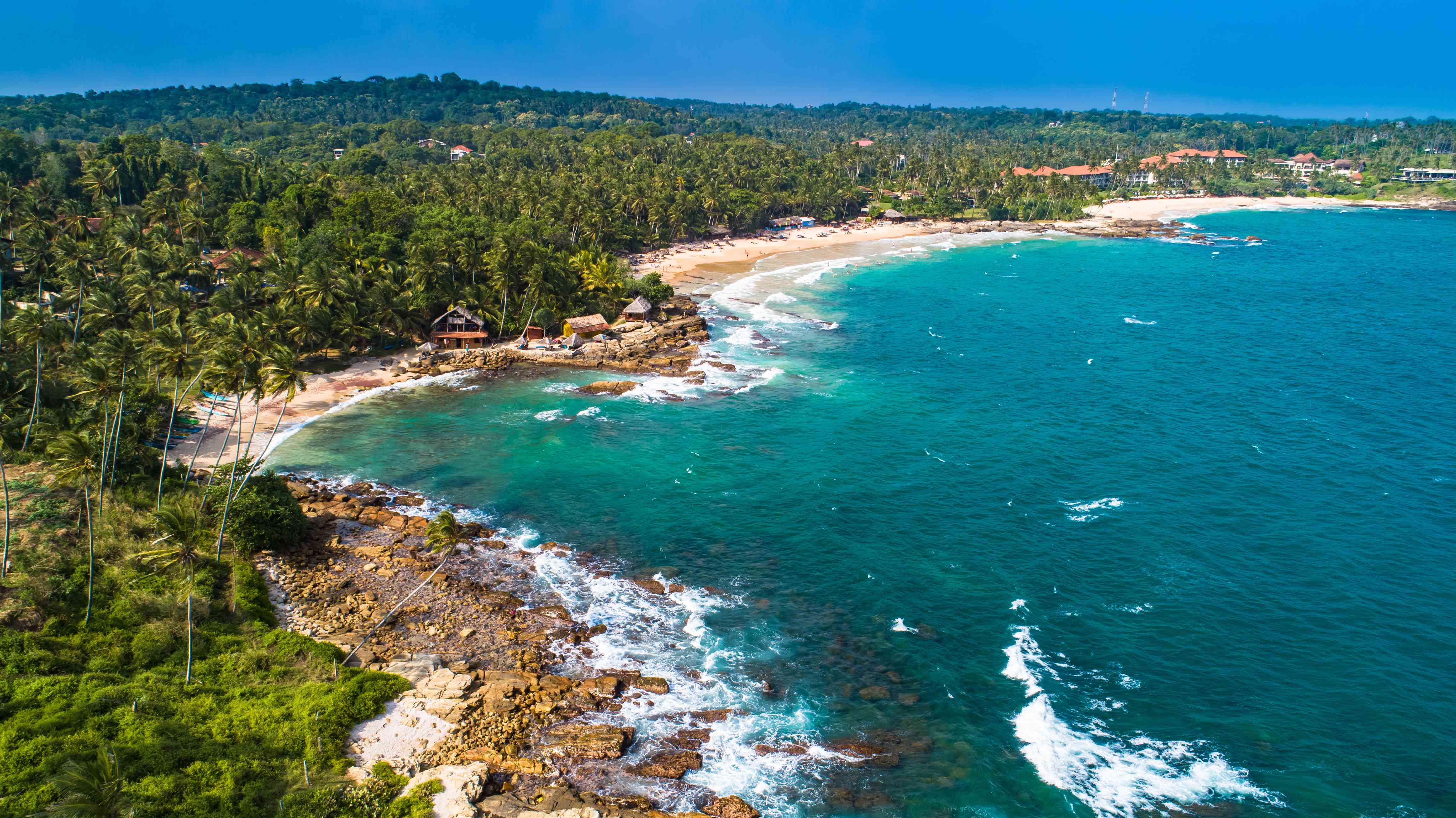 Goyambokka Beach and adjacent bays in Sri Lanka