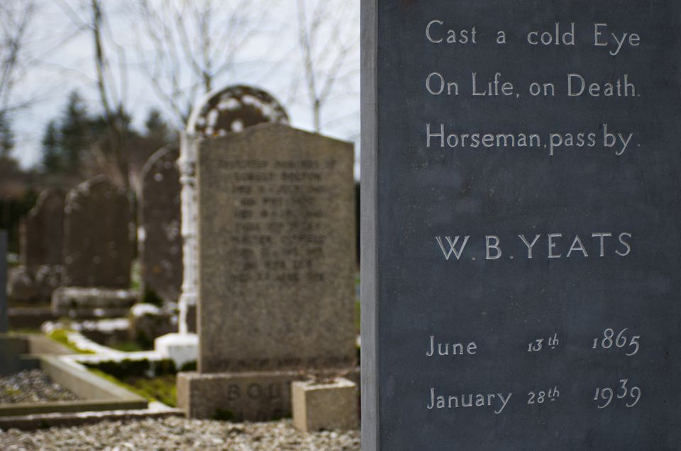 The gravestone of Irish poet W.B. Yeats