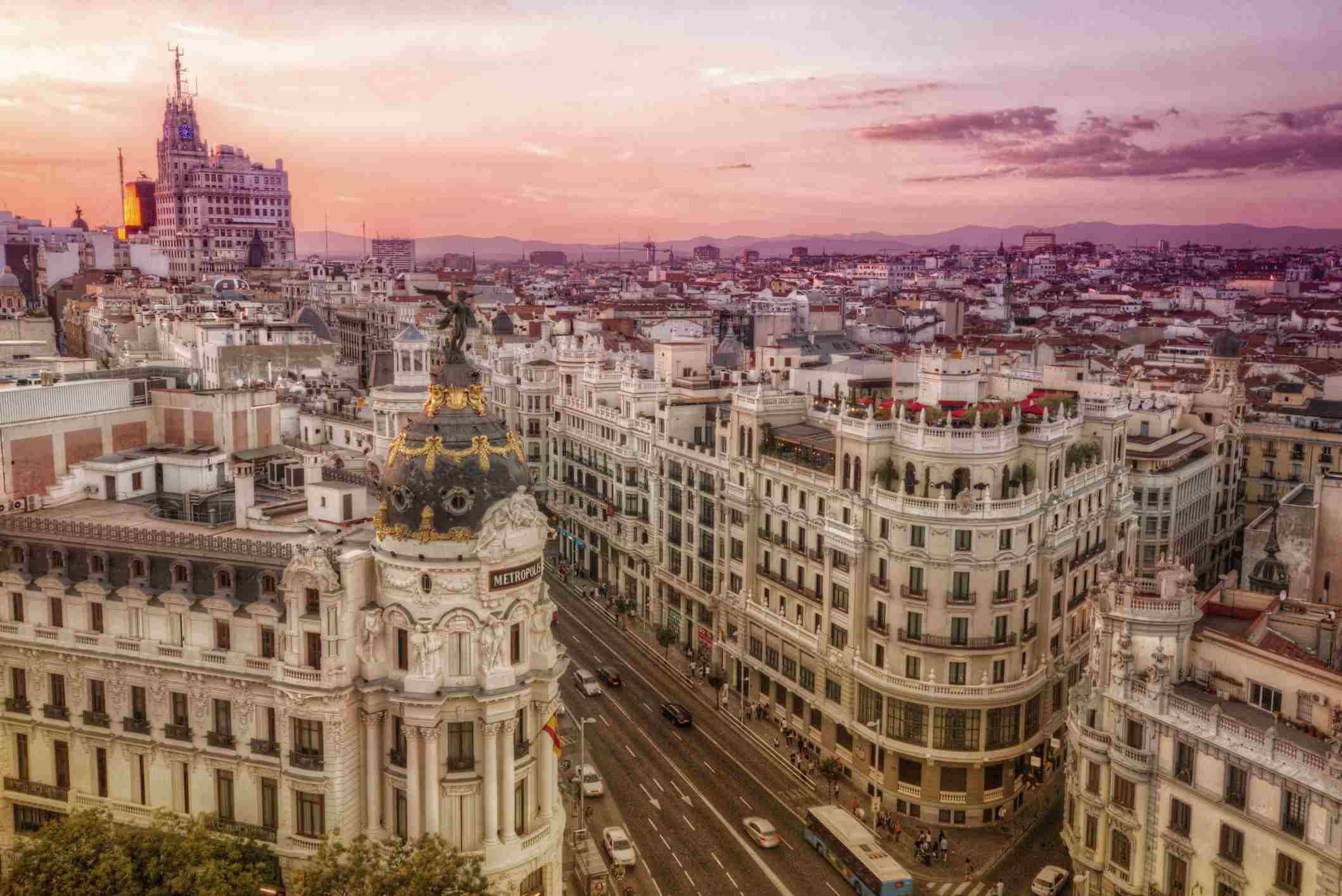 Madrid aerial shot