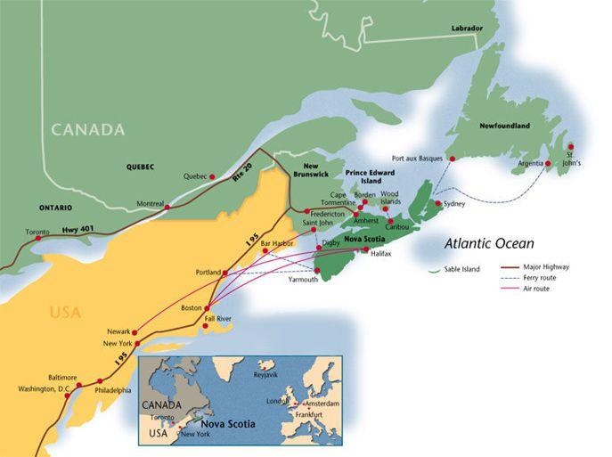Map Of Canada Nova Scotia.Explore Nova Scotia Through These Striking Photos