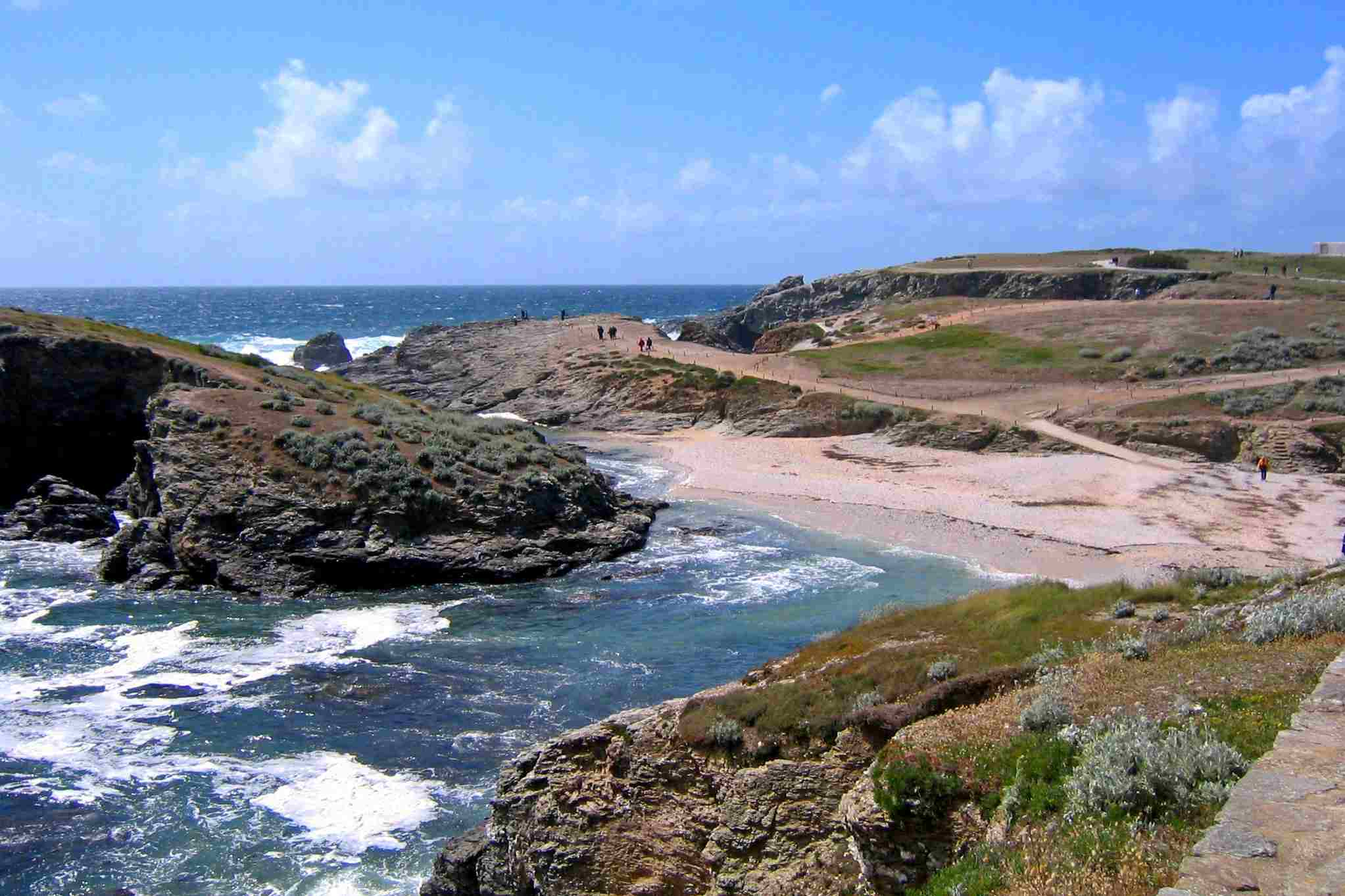 The coast of Belle-Ile, Brittany's largest island