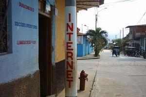 basic internet cafe Tarapoto, Peru.