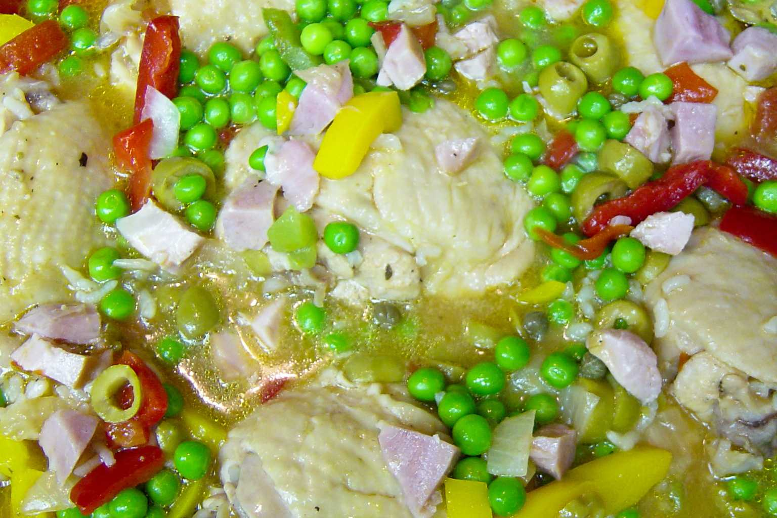 Asopao chicken noodle soup