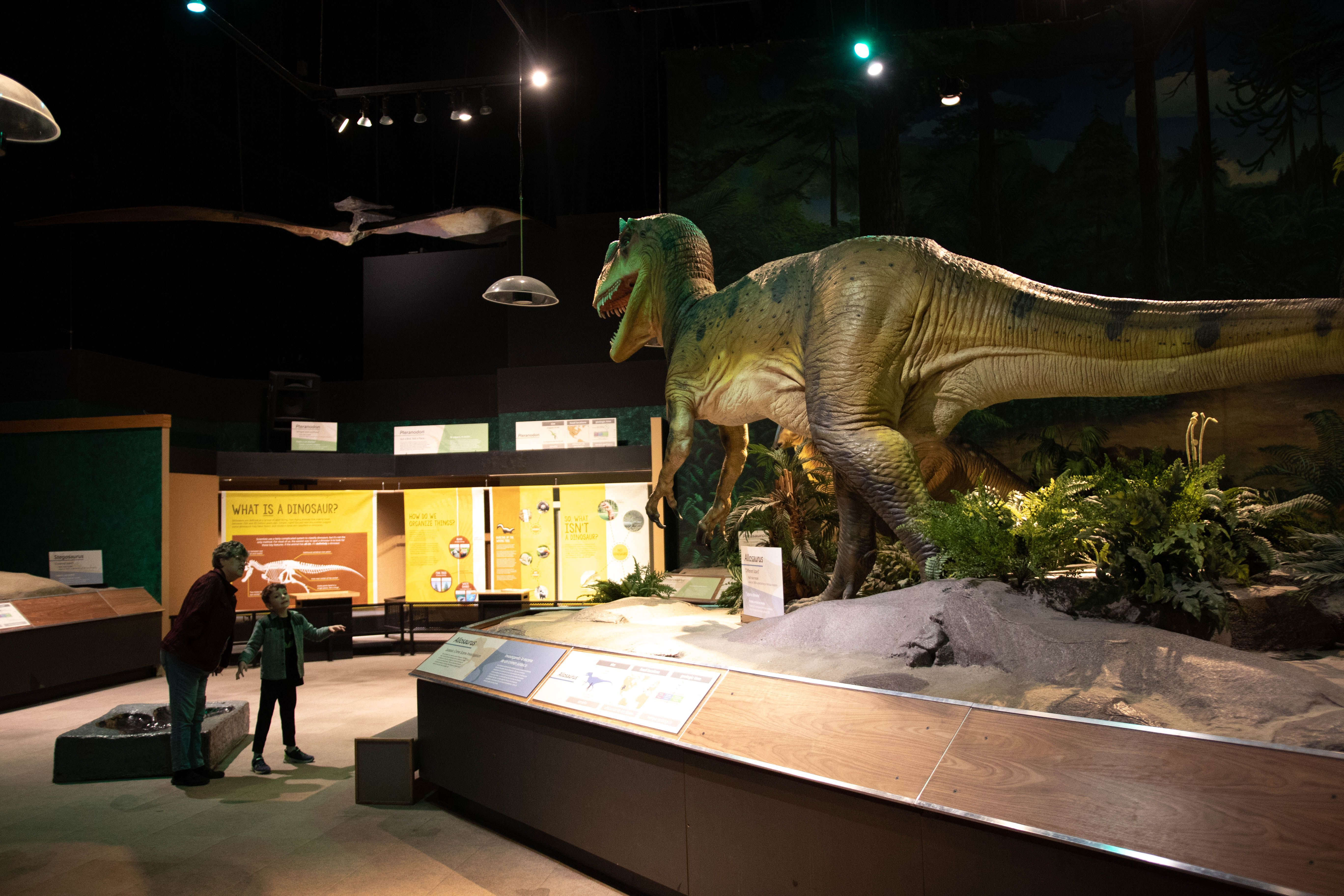 Dinosaur exhibit in the Pacific Science Center