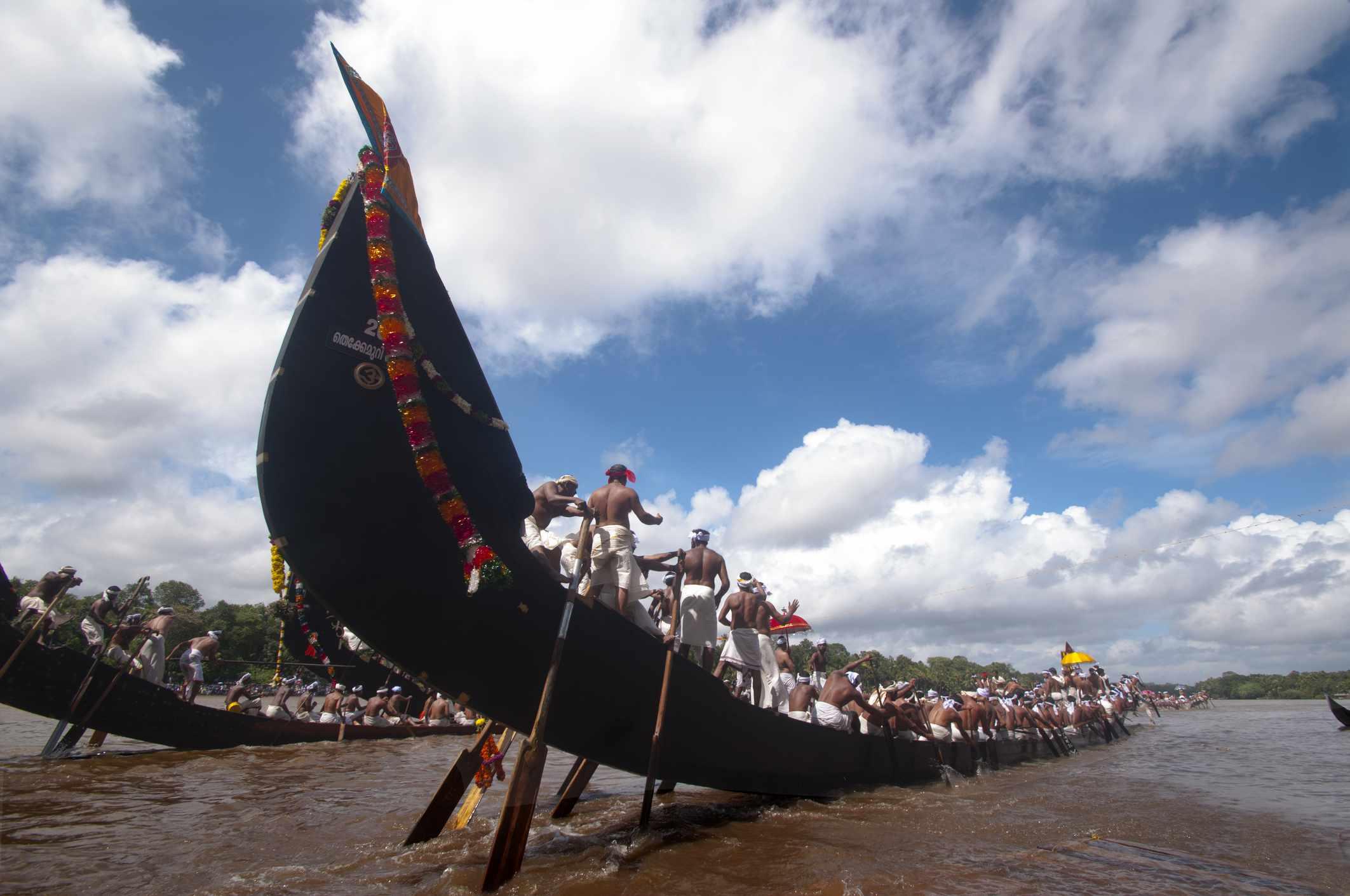 Snake boat race.