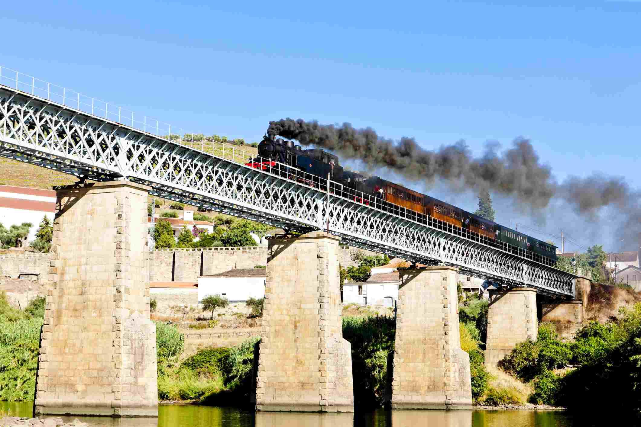 Steam train in the Douro