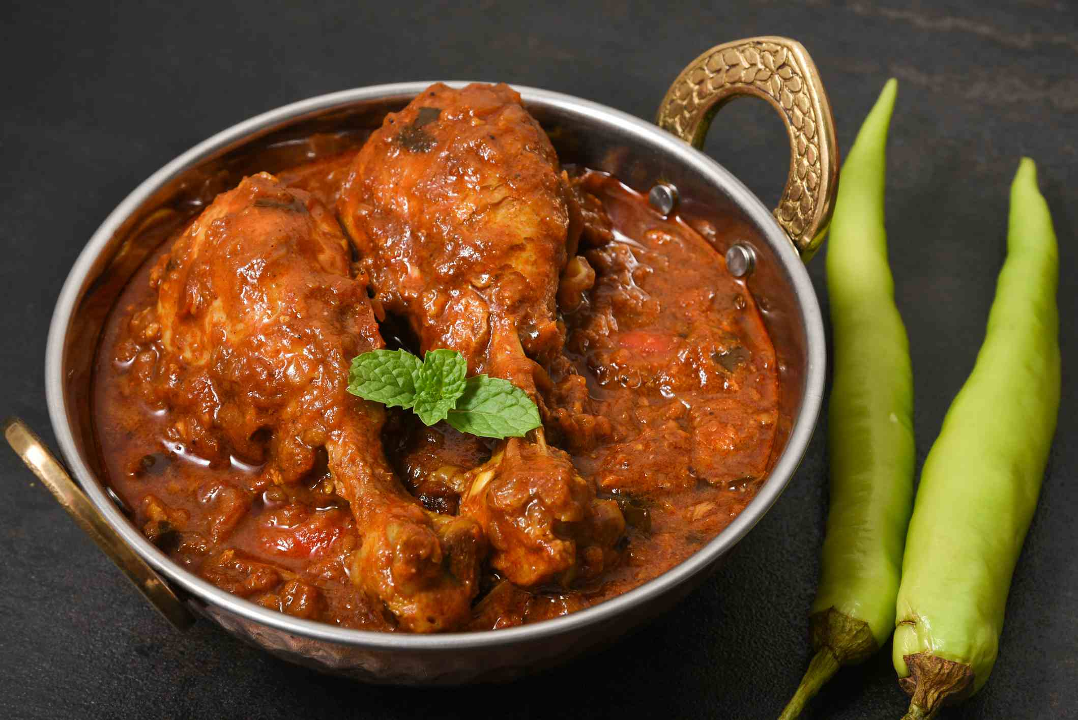 Traditional kerala chicken curry