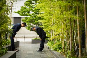 Traditional Japanese business greeting