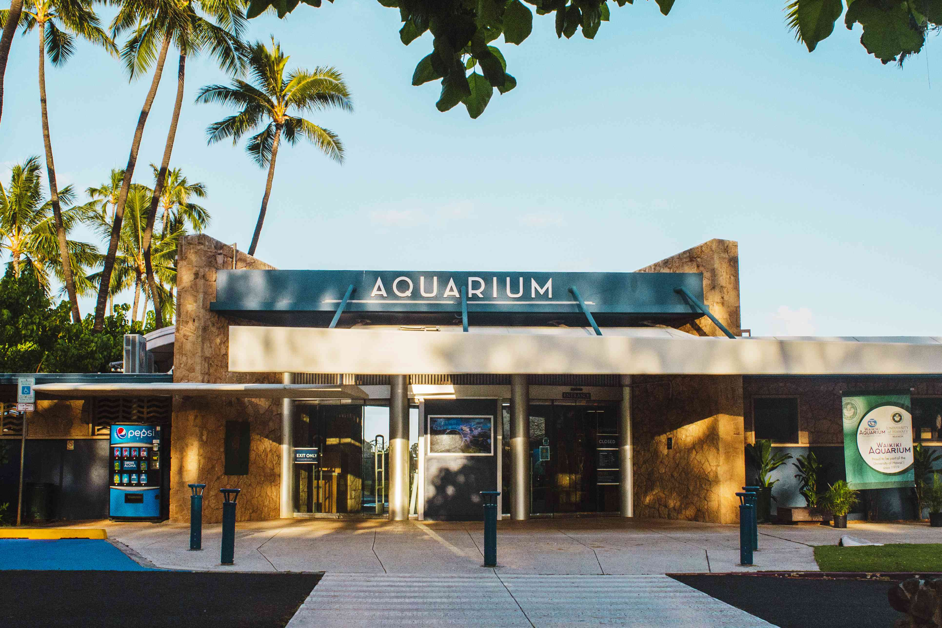 Entrance to the Waikii Aquarium
