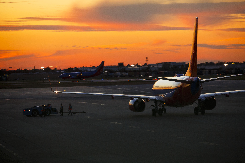 Sunset over William P. Hobby Airport in Houston