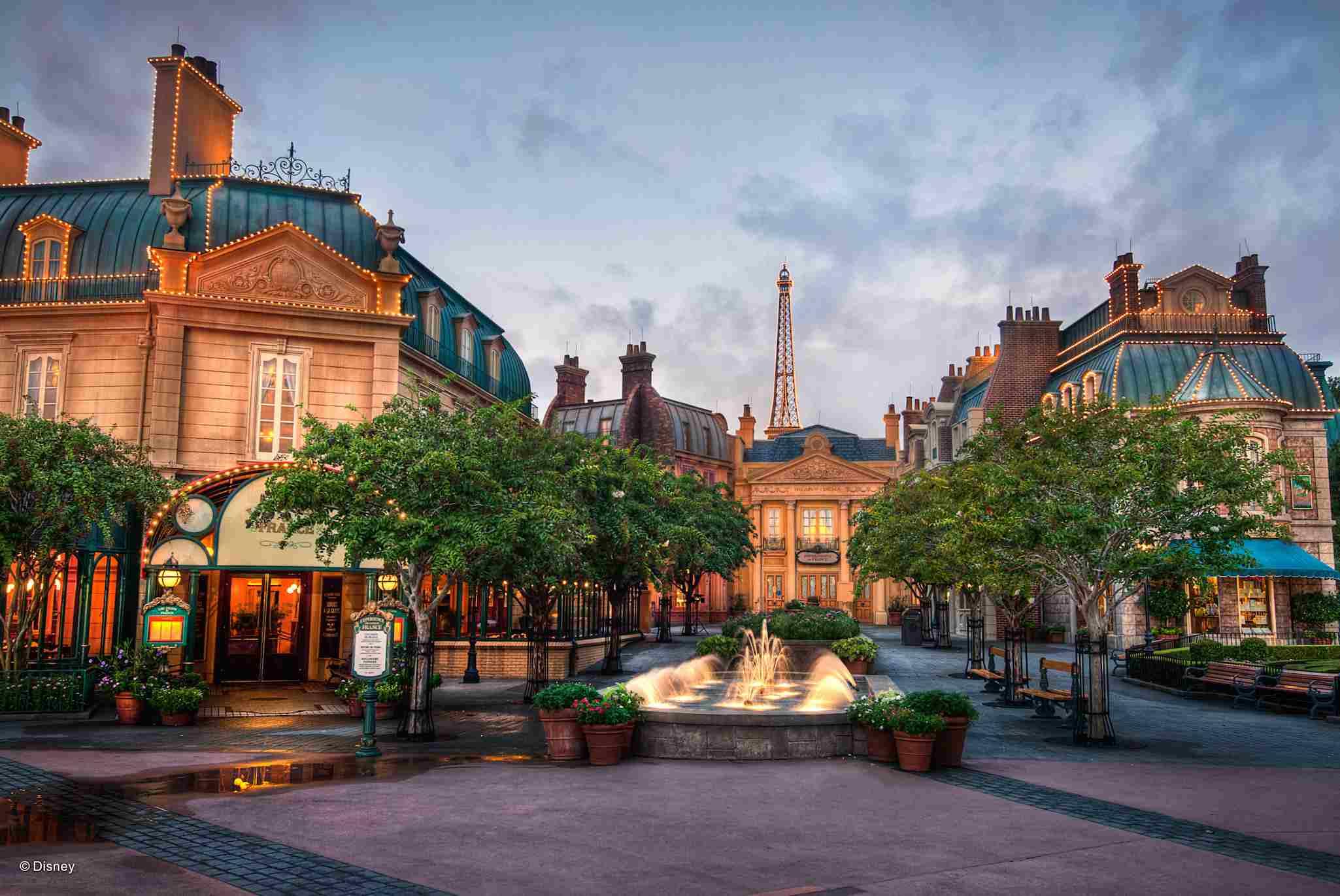 Pabellón de Francia en Epcot de Disney World