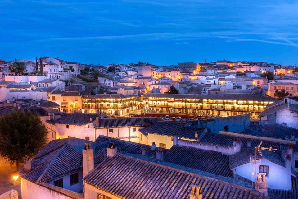 Blue Hour over the Madrid town of Chinchón