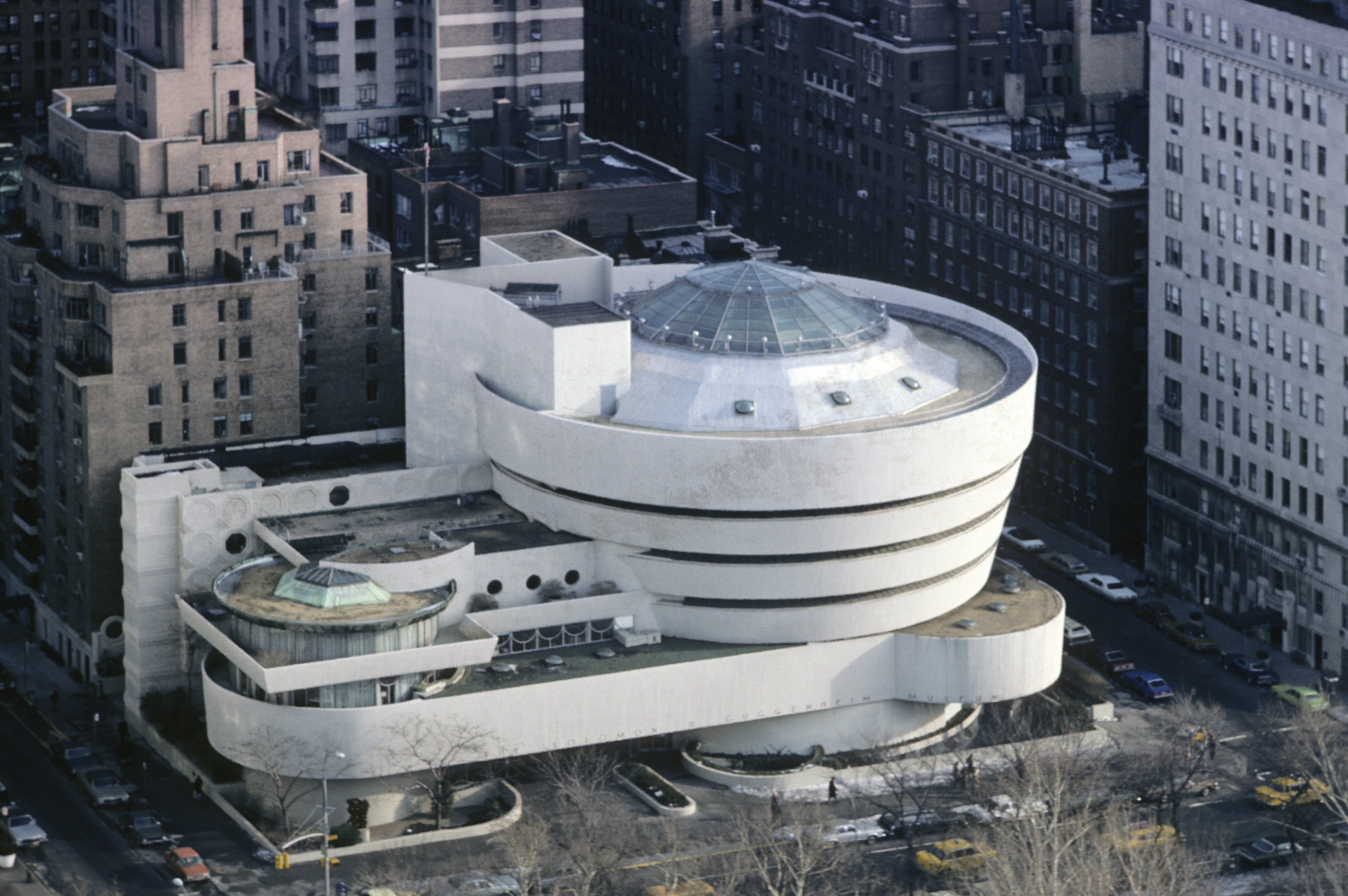 Aerial view of the Guggenheim Museum in NYC