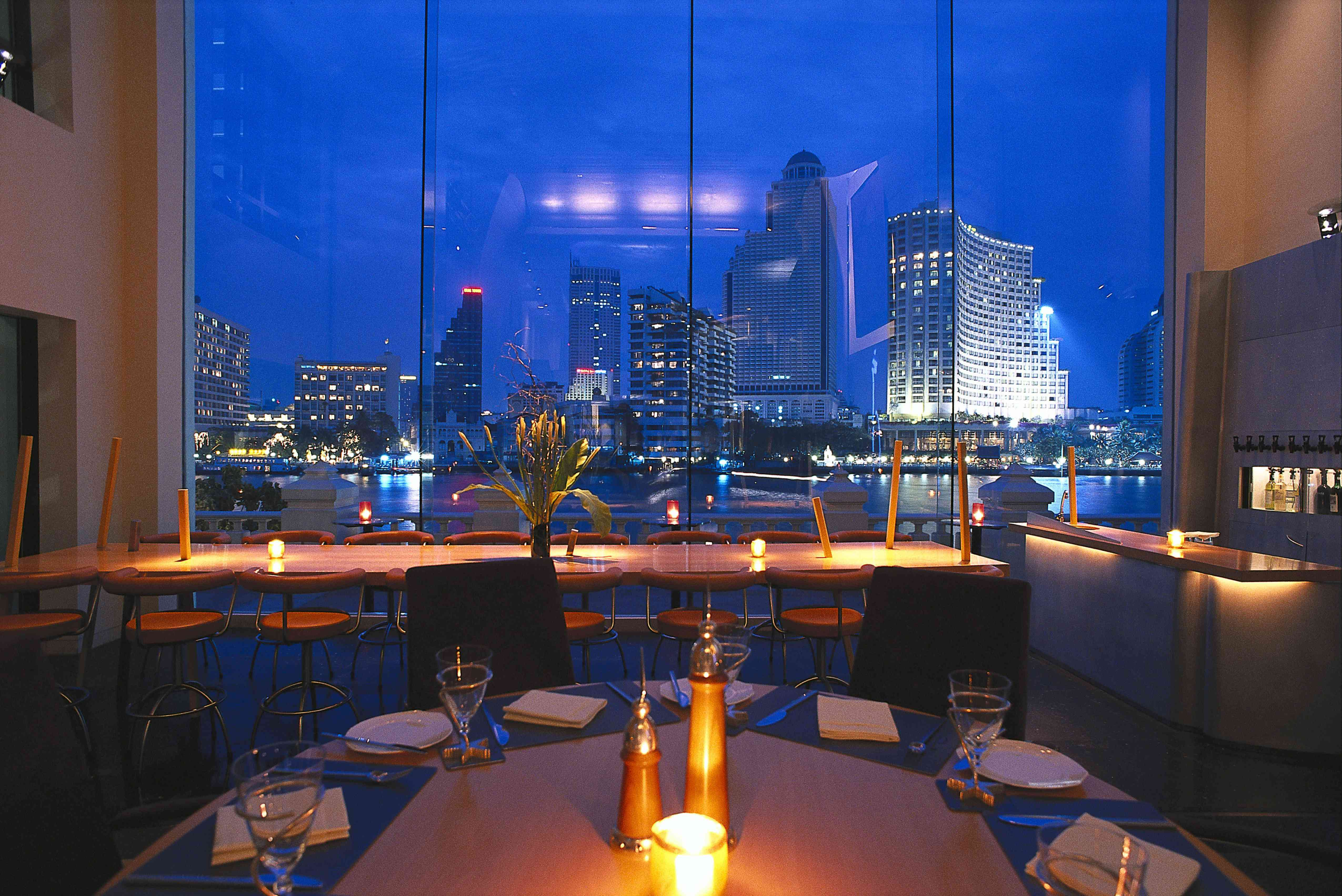 A restaurant in Bangkok with a view