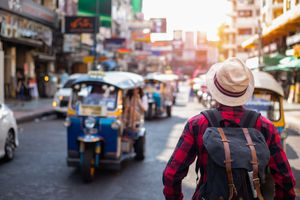 Tourist on Khao San Road, Bangkok, Thailand