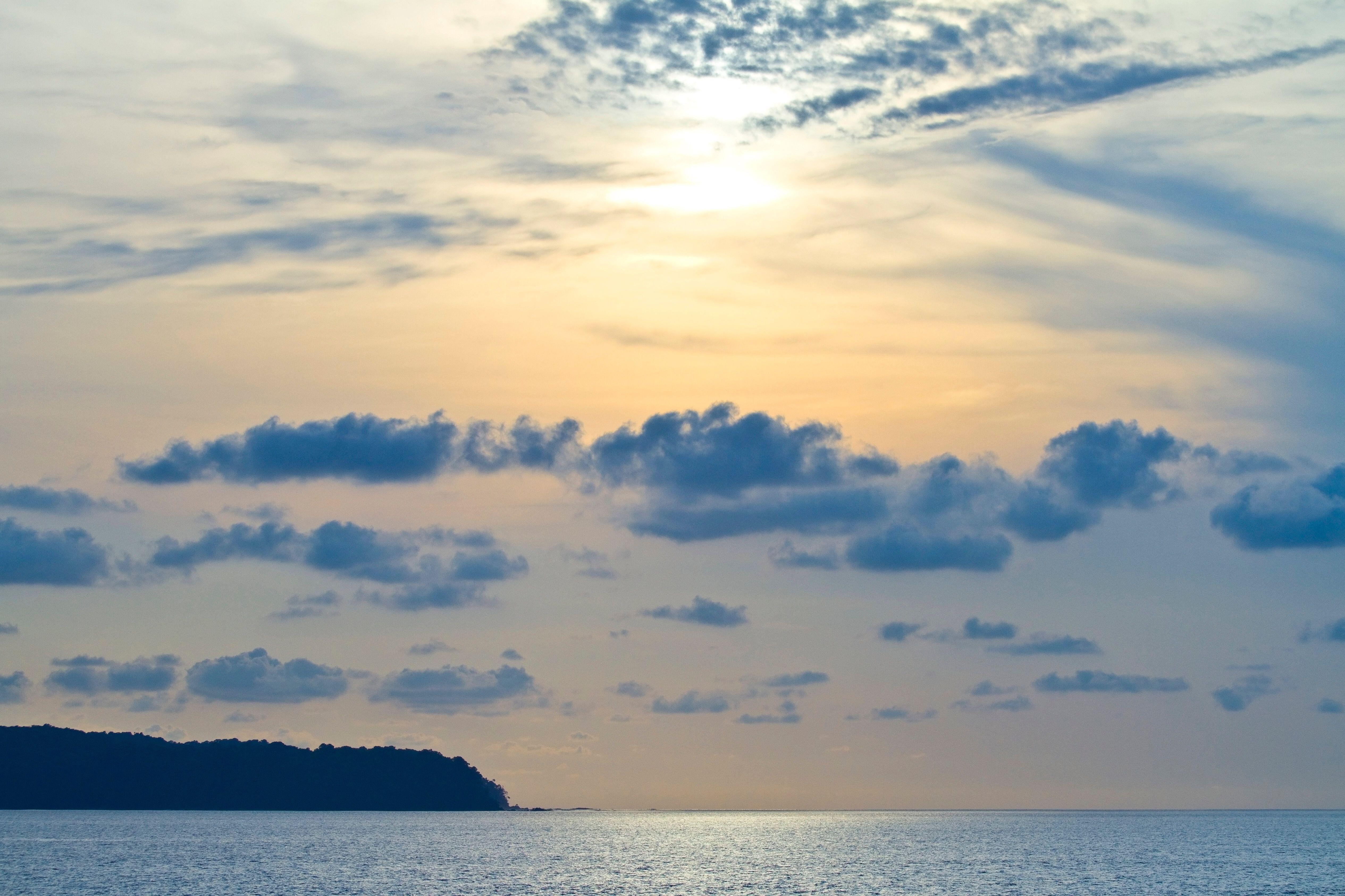 Los cielos sobre Isla del Cano, Costa Rica.