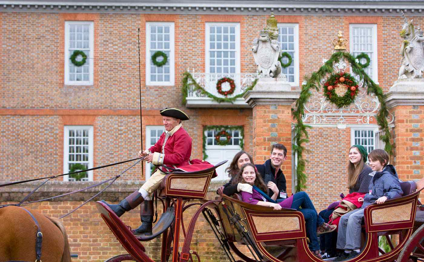 Stagecoach in Colonial Williamsburg