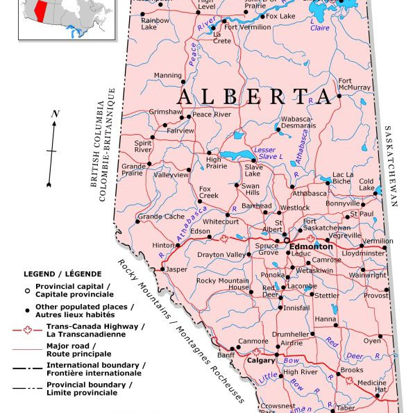 Map Of Alberta Canada With Cities And Towns Plan Your Trip With These 20 Maps of Canada