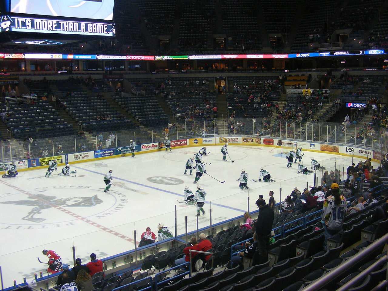 The BMO Harris Bradley center during a Milwaukee Admirals game