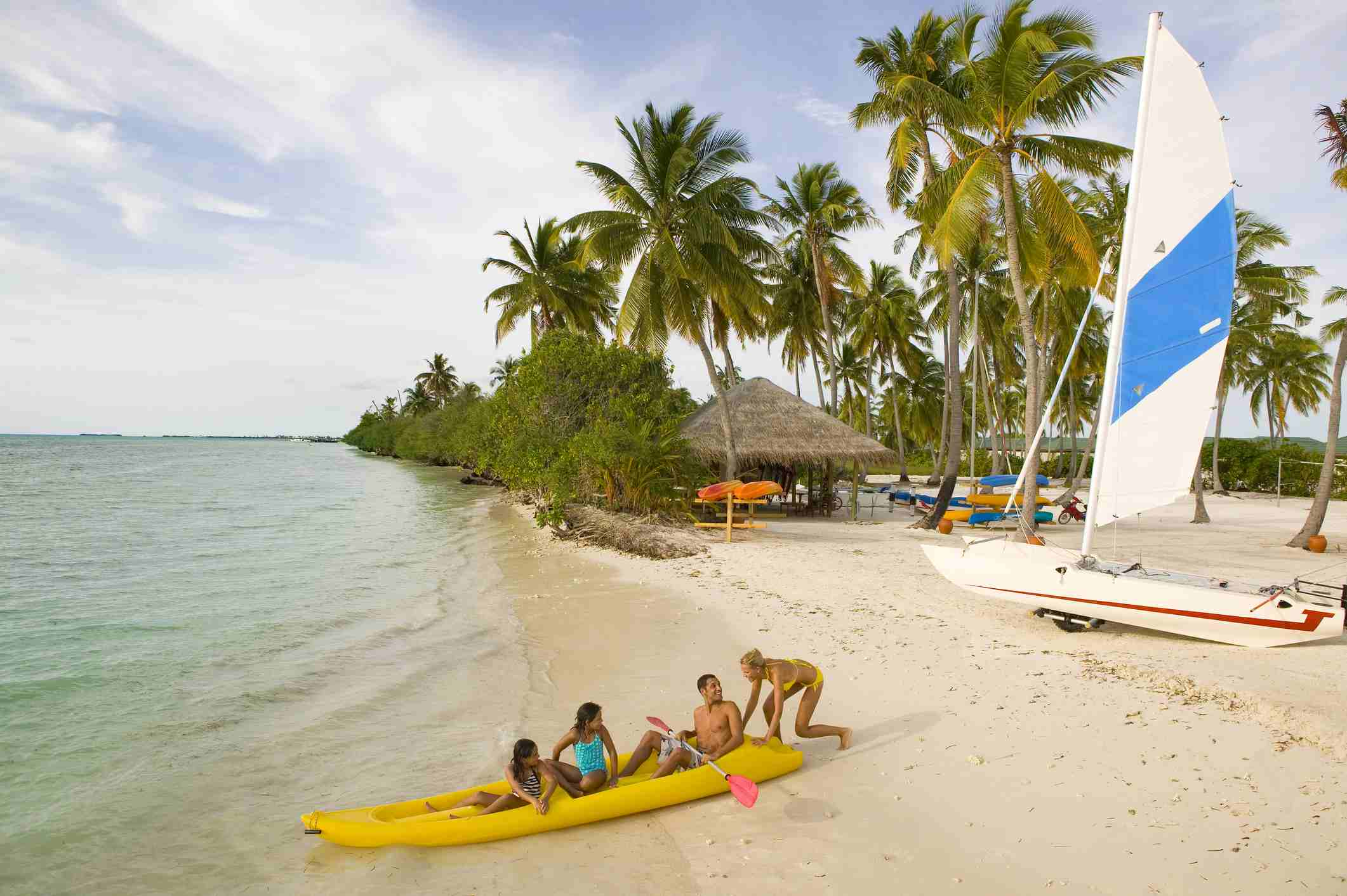 Watersports in the Maldives.