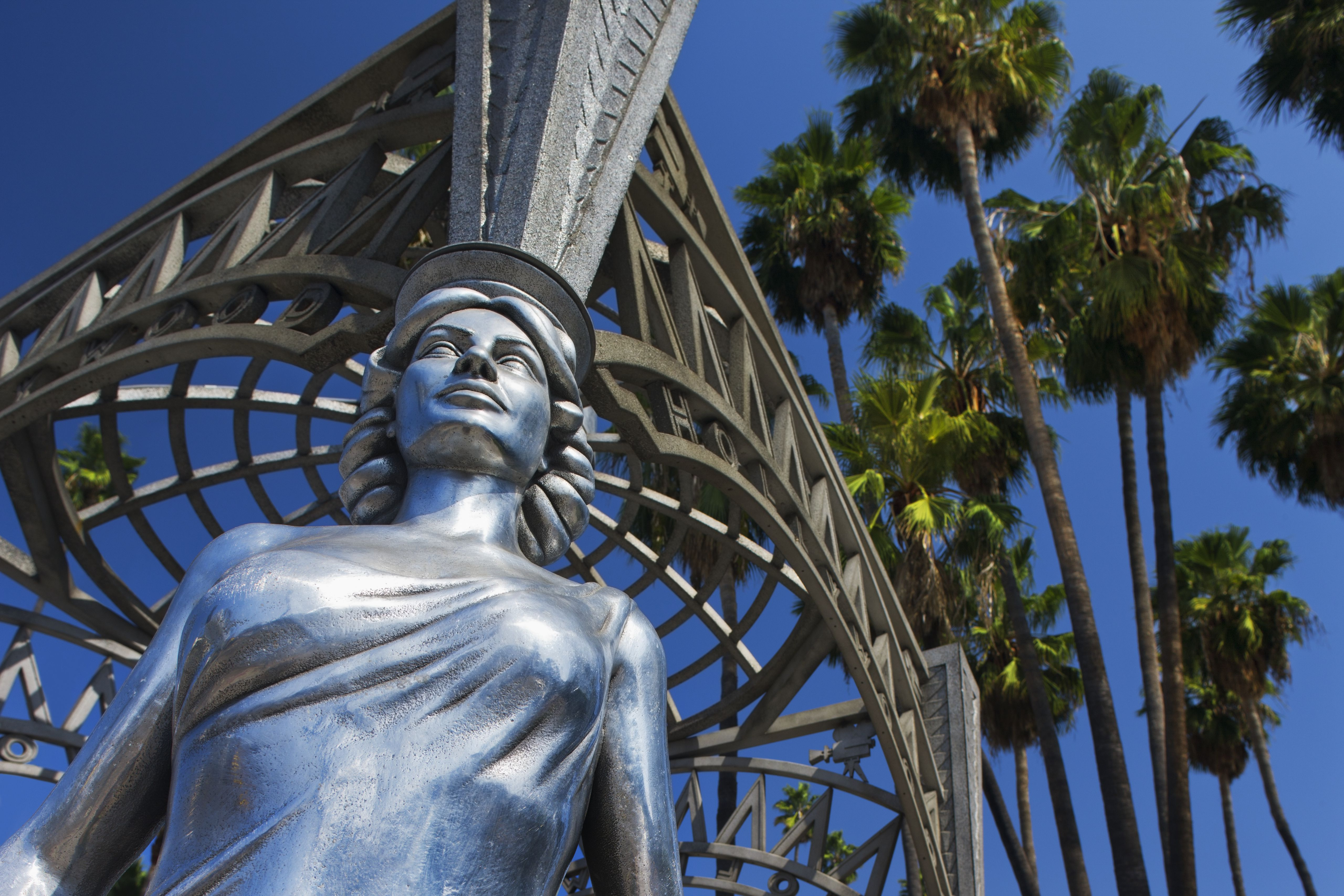 Detailed view of the Dorothy Dandridge statue included in the Gateway to Hollywood